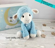 **PLEASE NOTE THIS LISTING IS FOR CROCHET PATTERN NOT ACTUAL TOY** this listing is for Lulu the lamb crochet pattern She measures 15 tall when using a D hook I recommend it as an intermediate pattern. The instructions are detailed and easy to follow if you know the basic stitches and