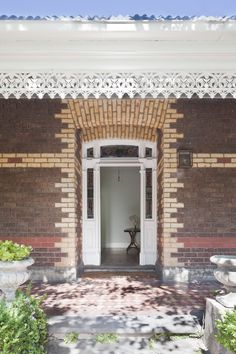 love the detail around this entryway door (st kilda east house, a remodel by claire cousins architects)