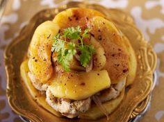 Découvrez la recette Boudins blancs aux pommes sur cuisineactuelle.fr.