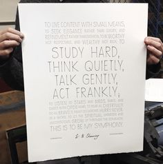 William Channing Letterpress Poster, by Starling Brood Pretty Letters, Pretty Words, Study Hard, Starling, Letterpress, Letter Board, Hand Lettering, Typography, Bullet Journal