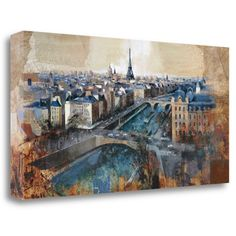 Tangletown Fine Art 'Ciel de Paris' by Marti Bofarull Painting Print on Wrapped Canvas