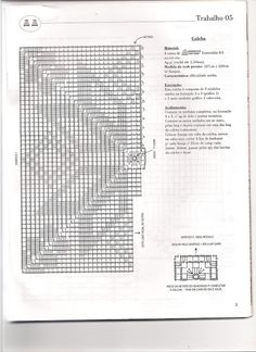 Crochê Gráfico: Linda colcha de crochê