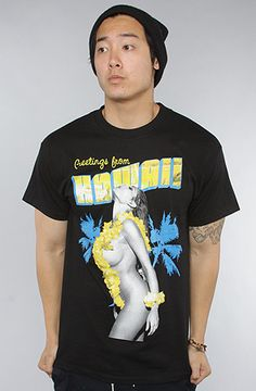 T.I.T.S. - (Two In The Shirt) The Greetings From Hawaii Tee in Black #karmaloop