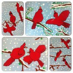 Cardinals in Winter - First Grade
