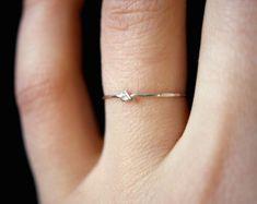 Plata esterlina Twist apilar anillos anillo de por hannahnaomi