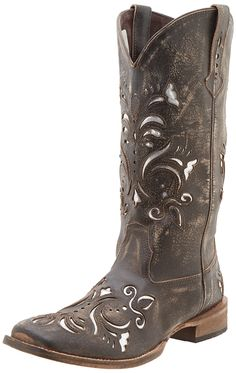 Roper Women's Metallic Underlay Western Boot >>> This is an Amazon Affiliate link. Be sure to check out this awesome product.