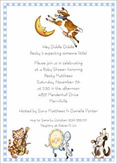 hey diddle diddle invitation baby shower printable editable digital pdf file instant download bsi358diy