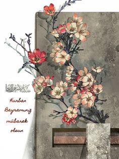 Kurban Bayramı Art And Illustration, Fantasy Kunst, Fantasy Art, Japanese Flowers, Japanese Art, China Art, Arte Floral, Chinese Painting, Flower Art