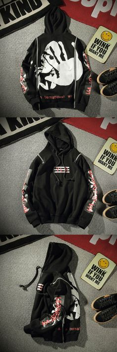 2017 autumn men's Japanese style Brand Hooded Hoodies fashion causal sweatshirt cotton printing letters High quality coat M-4XL