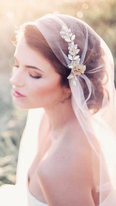 Gorgeous cap veil from Gadegaard Design. Photocredit: Tina Liv
