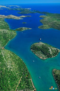 Telašćica, Dugi otok, Croatia. Telašćica is a bay situated in the southeastern portion of the island of Dugi Otok in the Adriatic Sea. It is a designated nature park, full of wildlife and sea creatures. (V)
