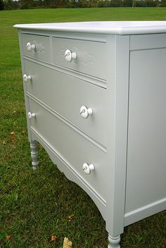 Could paint the dresser that looks a lot like this one.  Maybe use in guest room.