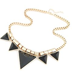Bold Triangle Statement Necklace