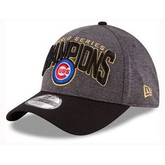 New Era Chicago Cubs World Series Locker Room 39THIRTY Cap ($32) ❤ liked on Polyvore featuring men's fashion, men's accessories and men's hats