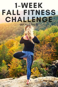 Check out our 1-week fall fitness challenge! We created this one-week fall fitness challenge to help you tone up, burn more calories, and get back into the habit of consistent exercise. #fitness #exercise #fitnesschallenge