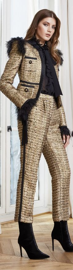 Fashion 2020, Fashion Brands, High Fashion, Womens Fashion, Zuhair Murad, Glamour, Fall Wardrobe, Suits For Women, Black And Brown