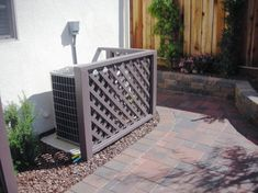 Fence Hiding Air Conditioner Design Ideas, Pictures, Remodel, and Decor