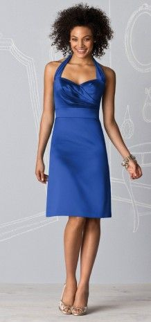 Royal blue bridesmaid dress - I like the color but not the dress