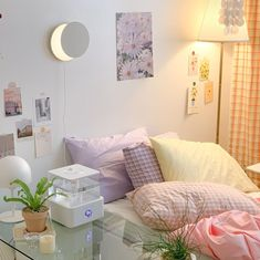Room Design Bedroom, Room Ideas Bedroom, Bedroom Decor, Bedroom Inspo, Pastel Room Decor, Cute Room Decor, Pastel Bedroom, Indie Room, Minimalist Room