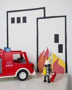 Feuerwehr basteln-Feuer-Limmaland-www.limmaland.com