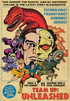 Another comic I would read!  Fake house ad for a fake Jack Kirby comic created for an interview about KIRBY-VISION for Tim Miner's blog, MARVEL SMARTASS!