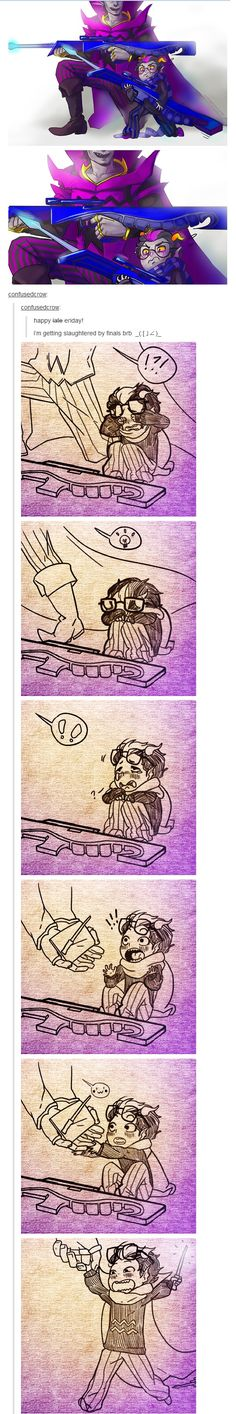 OMGGG LOOK AT THE WITTLE ERIDAN HES SO CUUUUTE<<<--- ;-; feels of goodness but feels of sadness idk but ERIDAN YOURE SO CUTE JUST UGH