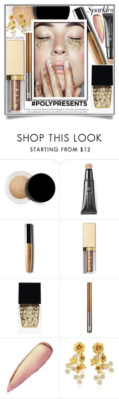 """#PolyPresents: Sparkly Beauty"" by ewa-naukowicz-wojcik ❤ liked on Polyvore featuring beauty, Inglot, Rouge Bunny Rouge, Stila, Witchery, Urban Decay, Jennifer Behr, contestentry and polyPresents"