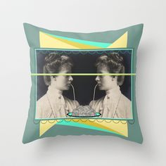 Ladies without the Tramp  Throw Pillow by AmDuf - $20.00