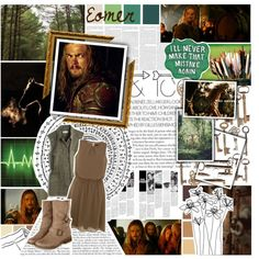 Now is the hour! Riders of Rohan; oaths you have taken, now fulfill them all, to Lord and land /// Eomer /// LOTR /// Round 1 by verified-fangirl-1 on Polyvore featuring Madewell, Hush, Seed Design, Sharpie and country