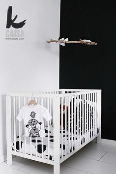 chambre enfants mur noir