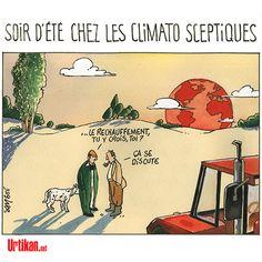 Climato sceptiques et urgence climatique - Dessin du jour - Urtikan.net