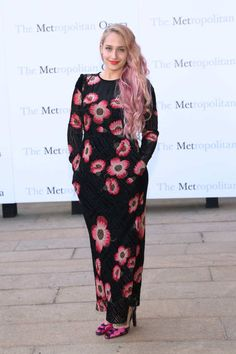 Jemima Kirke showed up at the Metropolitan Opera season opening with pink hair — making her the third Girls cast member to play fast and loose with hair dye in the past month (both Lena Dunham and Zosia Mamet recently transitioned to blonde bobs).