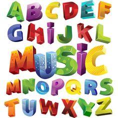 Colorful Block 3D Alphabet Font Set - http://www.dawnbrushes.com/colorful-block-3d-alphabet-font-set/