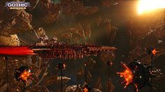 Battlefleet Gothic: Armada is the RTS videogame adaptation of Games Workshop's classic tabletop game, pitting the Chaos, Imperium, Eldar, and Orks against each other in visceral space-battles. Armada Game, Battlefleet Gothic Armada, Tau Empire, 40k Terrain, Space Battles, Real Time Strategy, Warhammer 40k Art, Game Workshop, Alucard