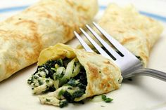 Chicken Spinach Mushroom Crepes.   2  cups roasted chicken 1. Package sliced…