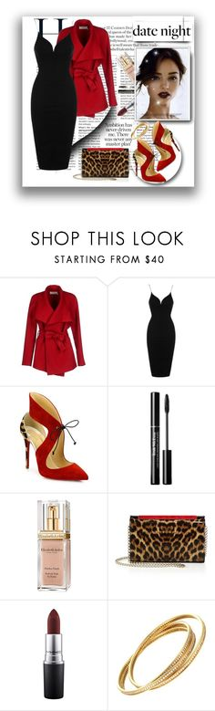 """""""date night"""" by smajlovicelvira ❤ liked on Polyvore featuring BGN, Rare London, Christian Louboutin, Elizabeth Arden, MAC Cosmetics and Cartier"""
