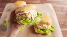 Our Crab Cake Burgers Slay the Entire Red Lobster Menu  - Delish.com Lobster Menu, Red Lobster, Crab Recipes, Burger Recipes, Dinner Recipes, Fish Dishes, Seafood Dishes, Main Dishes, Small Bowl