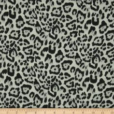 Isabella Satin Leopard Grey from @fabricdotcom  This very lightweight satin fabric features a fluttery drape and a low luster satin face. It is similar to a very lightweight satin-face crepe de chine fabric.  Perfect for scarves, shirts, blouses or gathered skirts or dresses with a lining. Colors include black, grey and ice.