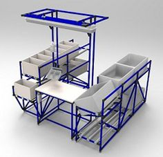 Lean Manufacturing - worksystem made from pipe racking system for better productivity