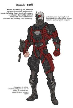 here's another design for the DCO MMO... this one also belongs to HIVE, and this is their BIG soldier... I kinda imagine a poor bastard being genetically enhanced and permanently grafted onto the a...