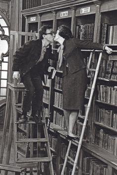 Woody Allen rocks it in the library.