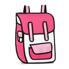 From HelloDefiance.com  http://www.hellodefiance.com/products/pink-school-style-w-pocket-2d-bag?utm_campaign=social_autopilot&utm_source=pin&utm_medium=pin