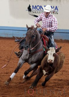 Kevin Burnett and Sheza Foxie Morgan circle up in the working cow horse prelims at the 2010 Ford Youth World. He would go on to place seventh in the finals. | Flickr - Photo Sharing!