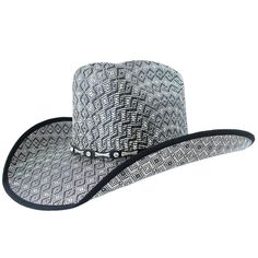 Moks Man Slanted Crown Cowboy Hat. Western ... 2f9683b3bc4a