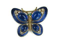 Trifari L'Orient Butterfly Brooch by VintageSparkleyBits on Etsy