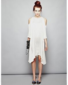 Ethical dress with cut out shoulders by Fair + True (from fashion-conscience) - Made under fair trade principles