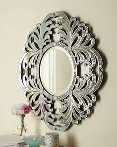 """Circular Leaf"" Mirror at Horchow."