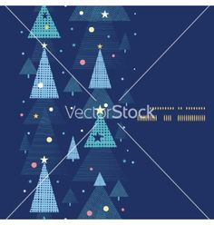 Abstract holiday christmas trees vertical frame vector by Oksancia on VectorStock®