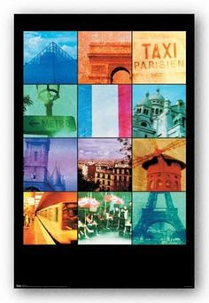 24x36 Paris Collage Art Poster Print ** To view further for this item, visit the image link.Note:It is affiliate link to Amazon.