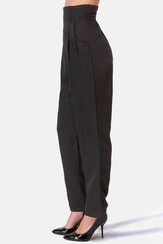 f07d646c0 Cute Black Pants - High-Waisted Pants - Black Slacks -  49.00 Slacks For  Women